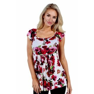 24/7 Comfort Apparel Rose Arbor Tunic Top