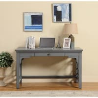 Somette 1-Drawer Textured Grey Writing Desk