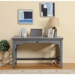 Somette 1-Drawer Textured Grey Writing Desk