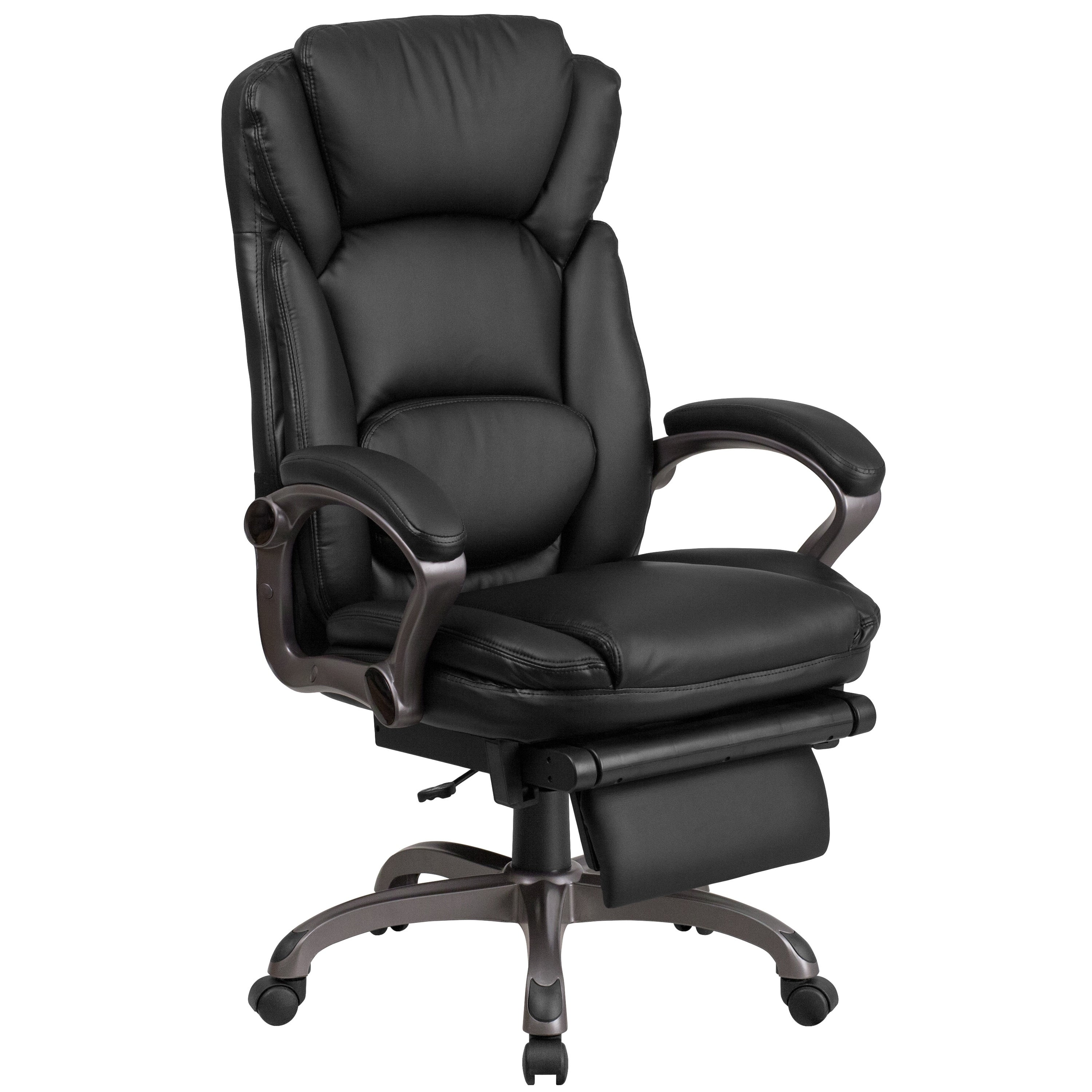 Incredible Details About High Back Bonded Leather Executive Reclining Swivel Chair Black Evergreenethics Interior Chair Design Evergreenethicsorg