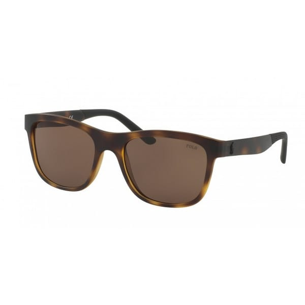 5628a7497f6 Ralph Lauren PH4120 560273 Square Sunglasses Semishiny Dark Havana Brown  Lens 55 19 145