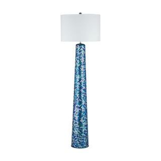 Diamond Lighting Aphrodisia Blue Glass/ Linen Floor Lamp