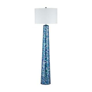 Diamond Lighting Aphrodisia Blue Glass/ Linen Floor Lamp