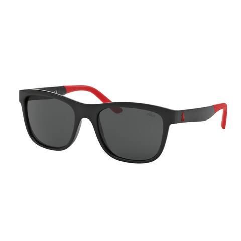 Polo by Ralph by Ralph Lauren Lauren Men's PH4120 500187 55 Square Plastic Grey Sunglasses