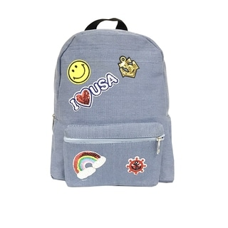Alfa Pop Art Blue Jeans Denim Fashion Backpack