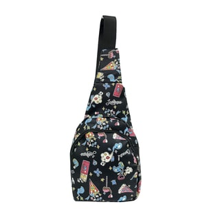 Alfa Pop Art Black Sling Strap Fashion Backpack