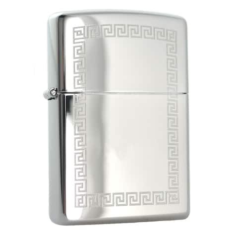 Zippo Greek Key Border High Polish Chrome Windproof Lighter
