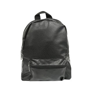 ALFA Washed Faux Leather Black Fashion Backpack