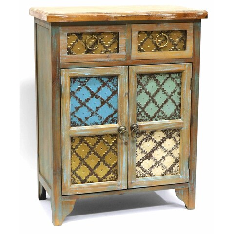 Colorful Rustic-style Storage Cabinet