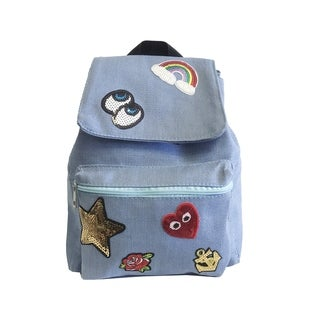 Alfa Pop Art Fashion Blue Denim Backpack