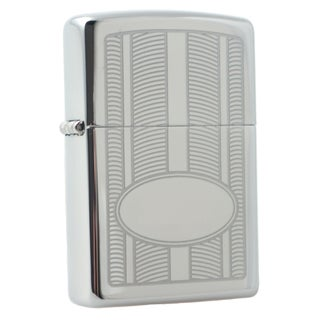 Zippo Oval Design High Polish Chrome Windproof Lighter