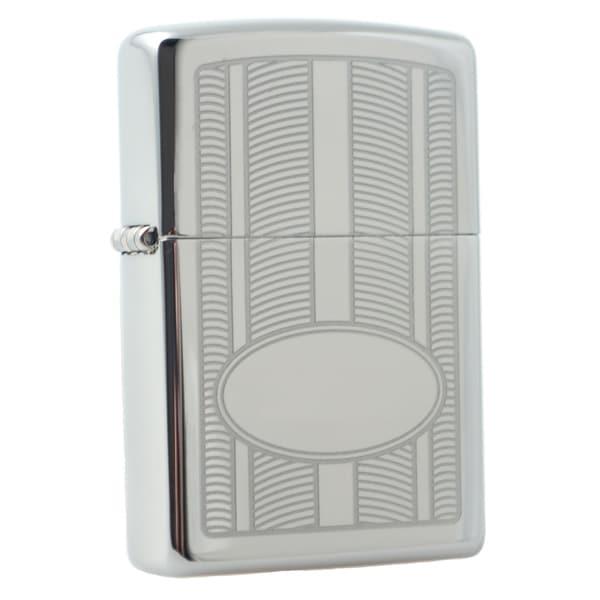 Zippo Oval Design High Polish Chrome Windproof Lighter