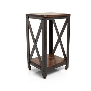 Crossroads Country Brown Finish End Table