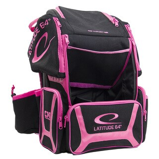 Latitude 64 DG Luxury E3 Black/Pink Backpack Disc Golf Bag