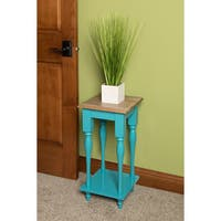 Kate and Laurel Sophia Wood Plant Stand End Table