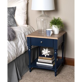 Kate and Laurel Sophia Rustic Wood Top Side Table
