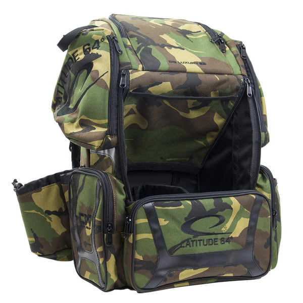 Laude 64 Dg Luxury E3 Army Camo Black Backpack Disc Golf Bag
