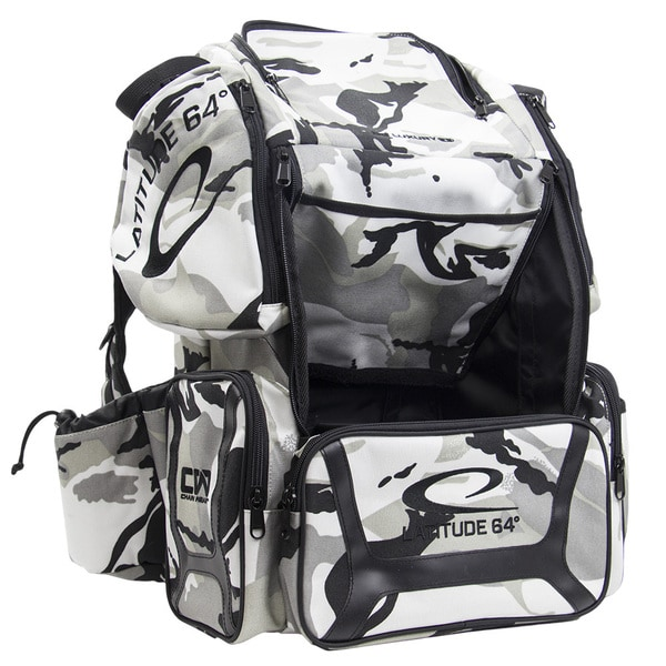 Latitude 64 DG Luxury E3 Arctic Camo/Black Backpack Disc Golf Bag