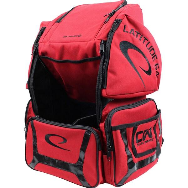 Latitude 64 DG Luxury E2 Backpack Disc Golf Bag (Red/Black)