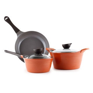 Neoflam Eela Ceramic Nonstick Cookware Set (Option: 3 Piece - Pink)