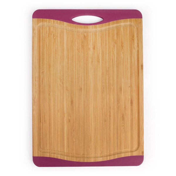 Neoflam Bamboo Cutting Board with NonSlip Edges and Juice Groove