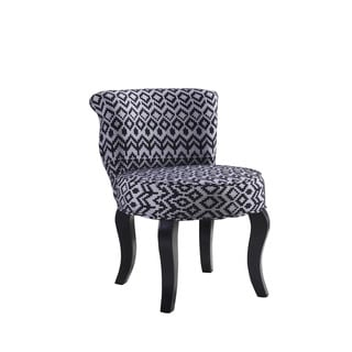 Contemporary Print Microsuede Armless Accent Chair
