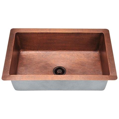 903 Single Bowl Copper Sink Ensemble