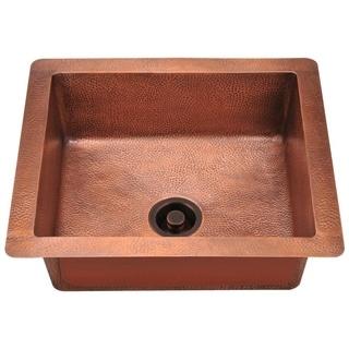 MR Direct 904 Copper Undermount Single Bowl Sink Ensemble