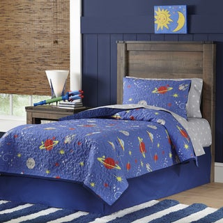 Lullaby Bedding Space 100% Cotton Printed 3-piece Quilt Set