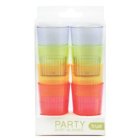 True 2937 1.5 Oz Party Shot Glasses Assorted Colors 8 Count
