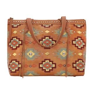 American West Adobe Allure Zipper Tote Bag