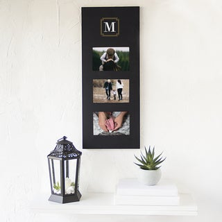 Personalized Black Wood Multi-photo Frame