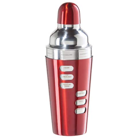 Oggi Corporation 7387.2 23 Oz Red Stainless Steel Cocktail Shaker