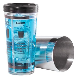 Oggi Corporation 7038 Stainless Steel & Glass Cocktail Shaker