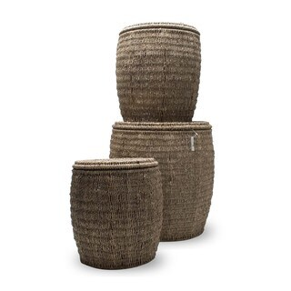 TAG Seagrass Storage Ottoman (Set of 3)