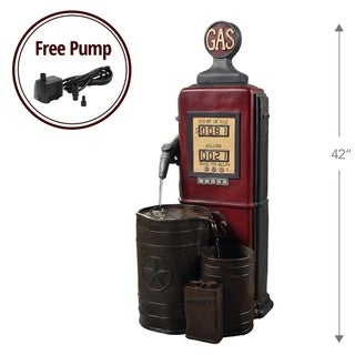 Teamson Peaktop Vintage-style Outdoor Gas Station Waterfall Fountain
