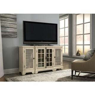Bay Pointe II Rustic White 64 Inch TV Console
