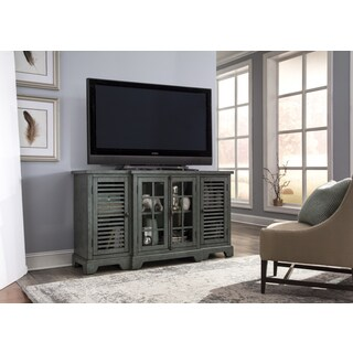 Bay Pointe IIII Rustic Turquoise Entertainment TV Console
