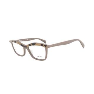 Prada Butterfly PR17PV MA61O1 Women's Powder Rose and Light Havana Frame Eyeglasses