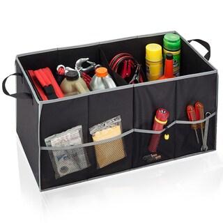 Honey-Can-Do Soft Storage Chest, Black/Grey Folding Trunk Organizer