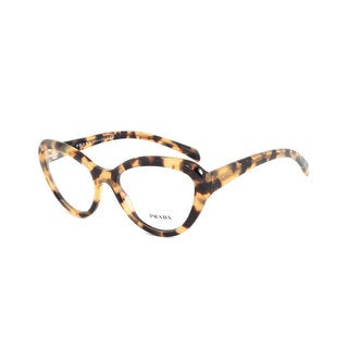 Prada Cateye PR25RV 7S01O1 Women's Translucent Medium Havana Frame Eyeglasses