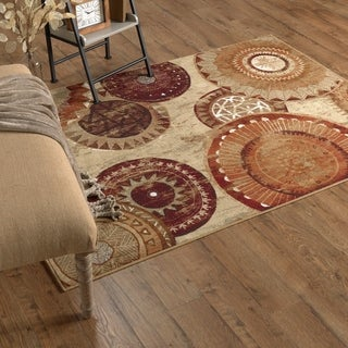 Mohawk Home Soho Spice Medallion Area Rug (5' x 7')