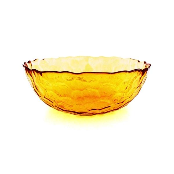 HIVE SET/2 SOUP BOWLS AMBER