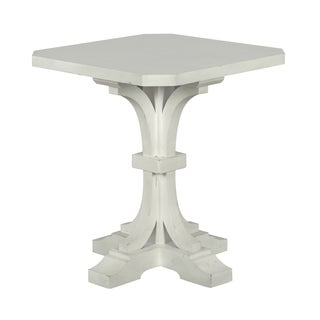 Hancock Park Square Accent End Table in Vintage White