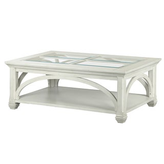 Hancock Park Rectangular Cocktail Table with Casters in Vintage White