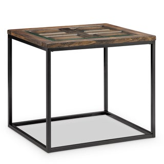 Rochester Urban Transitional Burnished Brown Rectangular Side Table