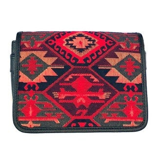 Red Pomegranate Kaftan 10-inch Crossbody Messenger Bag
