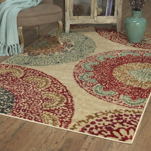 Mohawk Home Traditional Jewel Rug: Shop Mohawk Home Strata Lacey Medallions Area Rug