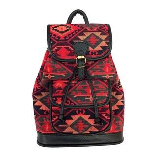 Red Pomegranate Kaftan 14-inch Fashion Backpack