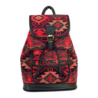 Red Pomegranate Kaftan 14-inch Fashion Backpack
